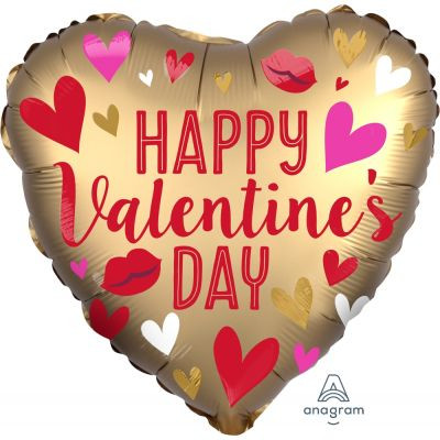 45cm Gold Happy Valentine's Day