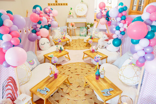 Pink, Purple and Teal Balloon Garlands