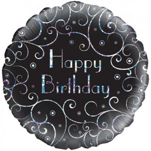 Filigree Holographic Happy Birthday