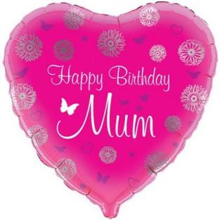 Happy Birthday Mum Heart