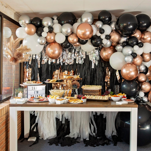 5m Balloon Garland with Rose Gold ORBZ