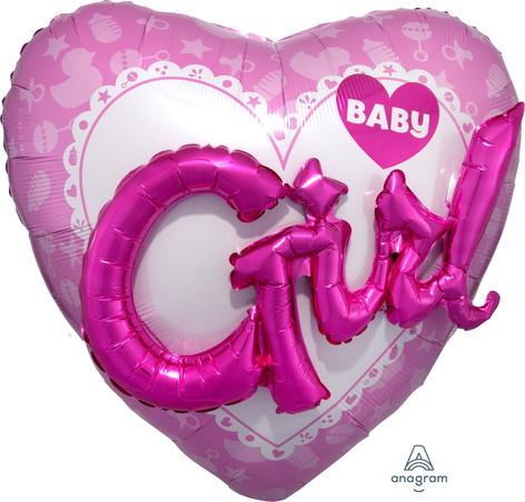 Baby Girl Multi Balloon 91x91cm