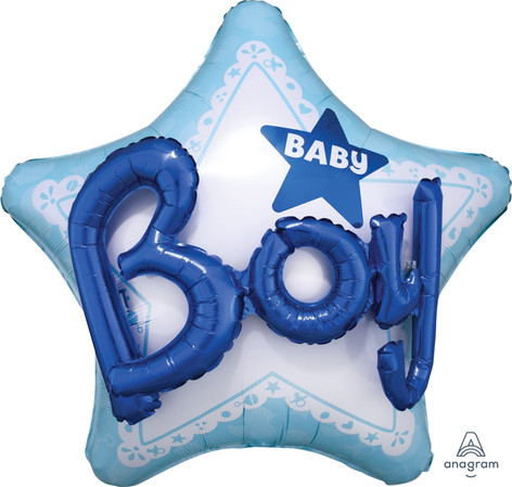 Baby Boy Multi Balloon 81x81cm