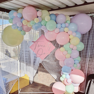 3m pastel colour balloon garland mesh frame