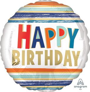 Striped Happy Birthday