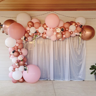 4m Balloon Garland in Pinks, White and C