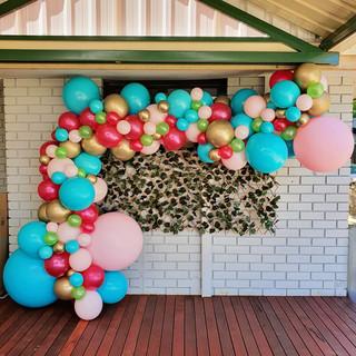 4m Tropical theme balloon garland