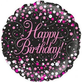 Pink and Black Happy Birthday
