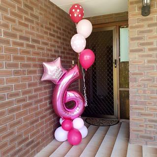 Personalised Balloon Floor Bunch