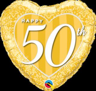 Happy 50th Gold Heart
