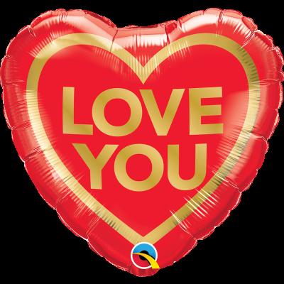 I Love You 45cm Foil