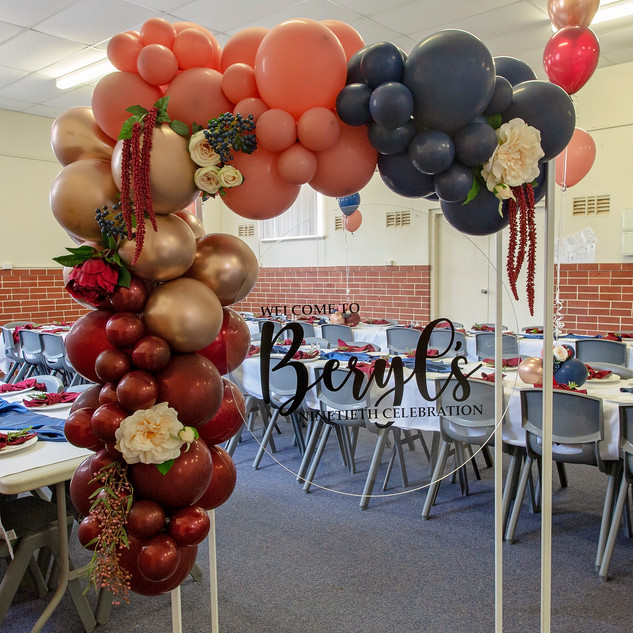 Balloon Garland and Frame for Birthday P