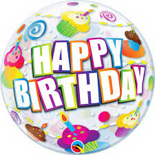 Cupcake Happy Birthday Bubble