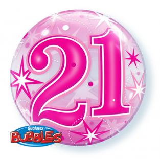 Bright Pink 21st Bubble