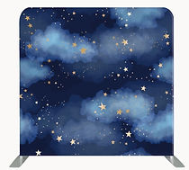 Space theme night sky backdrop