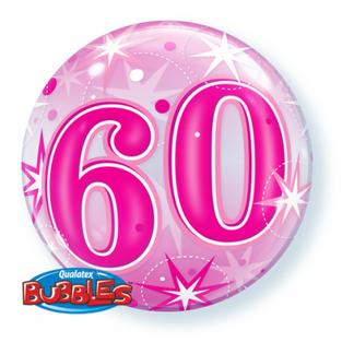 Bright Pink 60th Bubble