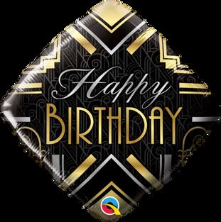 Art Deco Diamond Happy Birthday