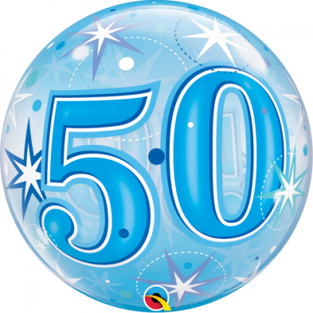 Blue Starburst Sparkle 50th