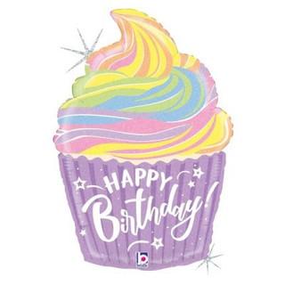 Pastel birthday cupcake 68cm
