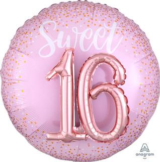 91cm Multi Balloon Blush Sweet 16