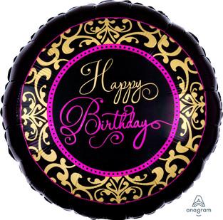 Gold Filigree Happy Birthday