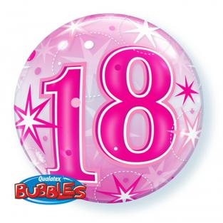 Bright Pink 18th Bubble