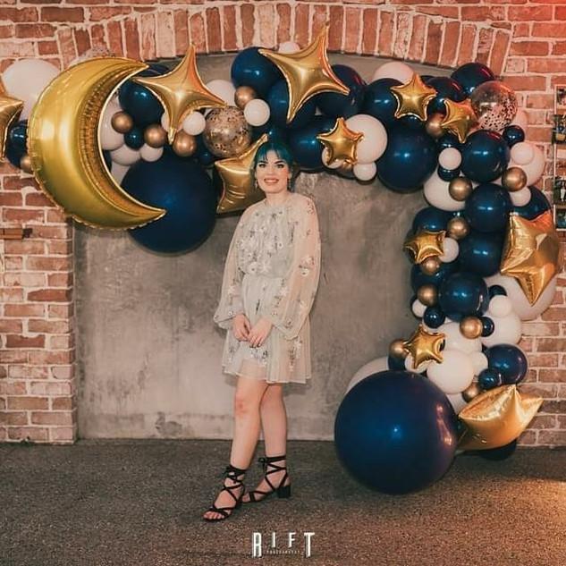 Moon and Star theme Balloon Garland 4m