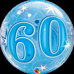Blue Starburst Sparkle 60th