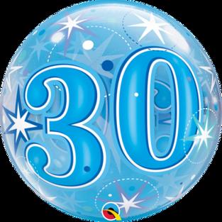 Blue Starburst Sparkle 30th