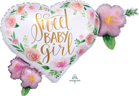 Floral Sweet Baby Girl SuperShape