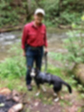 Keith Payne (KP) and Smokey Search Dog Search above Leatherwood, NC