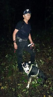 Keith Payne (KP) and Smokey Search Dog Bear's Killer Search Charlotte, NC