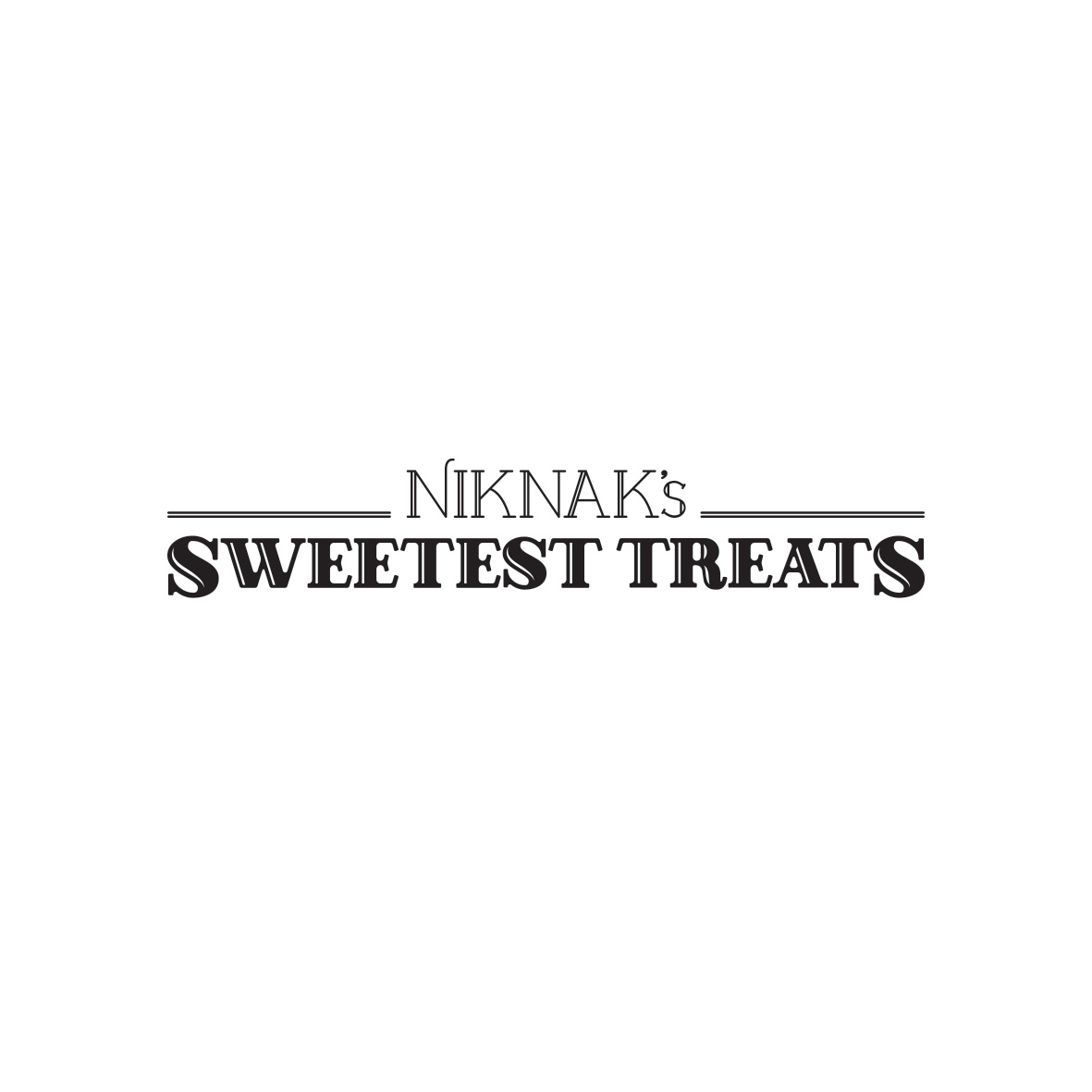 Niknak's Sweetest Treats Logo
