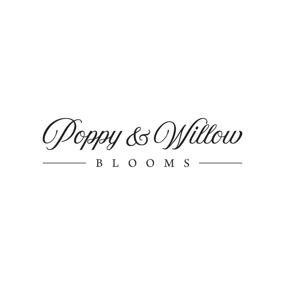Poppy & Willow Blooms Logo