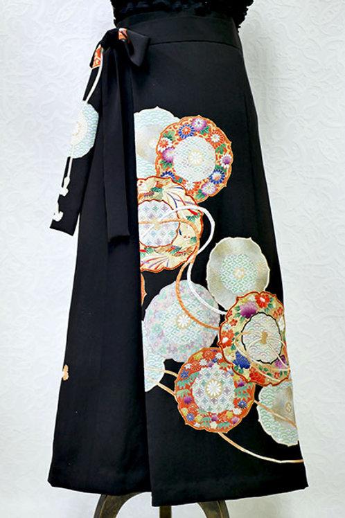 NW027L 留袖 花柄丸文様