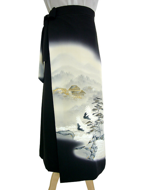 NW007L 留袖  鶴と松