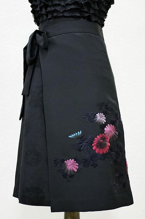 NW028M 絵羽織 花刺繍