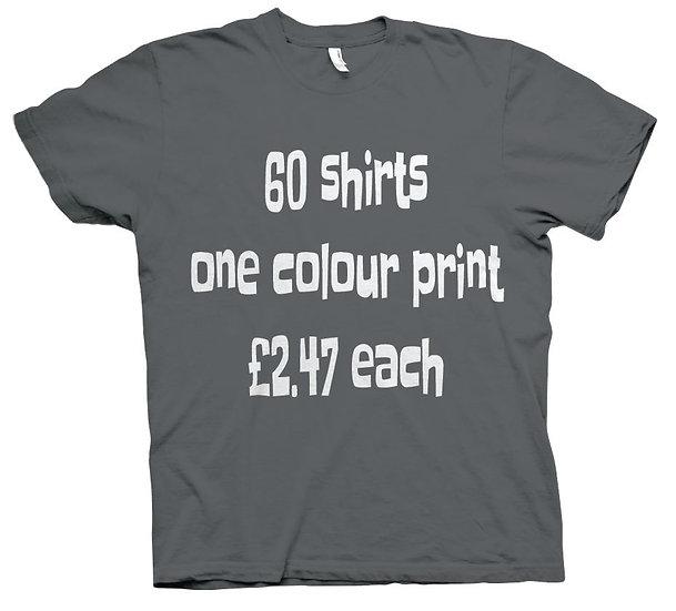 60X T-Shirts £2.47 each