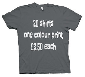20X T-Shirts £3.50 each