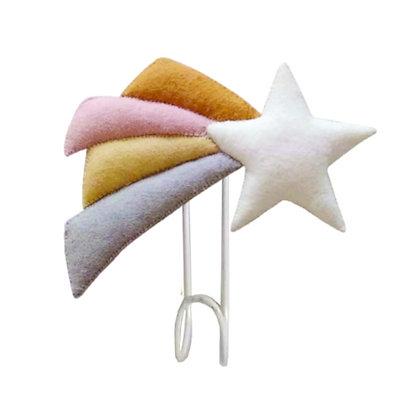 Fiona Walker Felt Wall Hook - Shooting Star (Pastel)