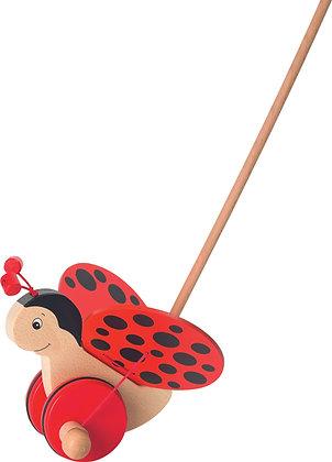Goki Push-along - Ladybird