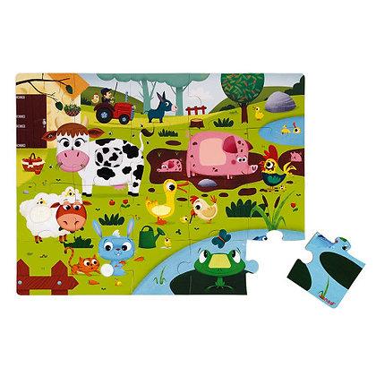 Janod Jigsaw Puzzle - Farm  2-4yrs