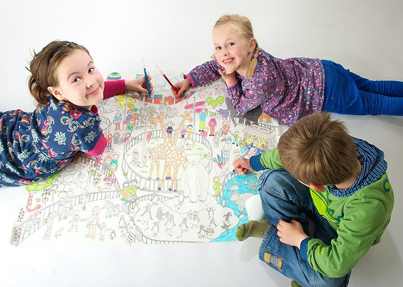 Really Giant Colouring Poster - Visit the Zoo