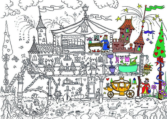Really Giant Colouring Poster - Princess Castle