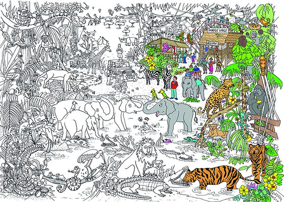Really Giant Colouring Poster - Jungle Fun