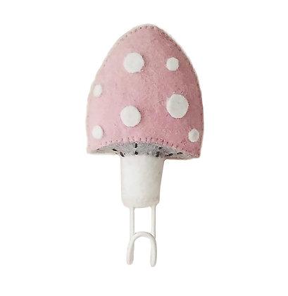 Fiona Walker Felt Wall Hook - Mushroom(Pink)