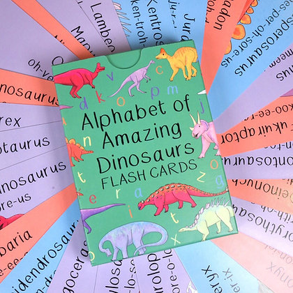 Button and Squirt - Cards (Alphabet Dinosaur)