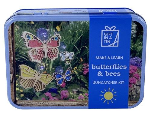 Gift in a Tin - Butterflies & Bees Suncatcher Kit