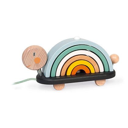 Janod - Sweet Cocoon Rainbow Turtle