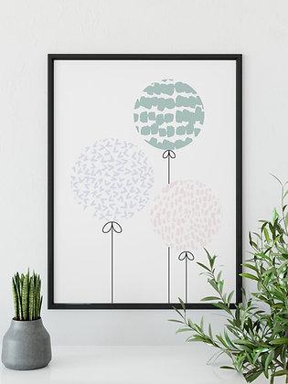 Balloons - A5 Print